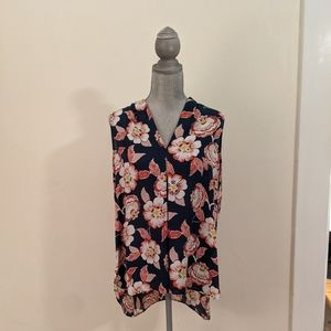 Sleeveless Floral Blouse (L)